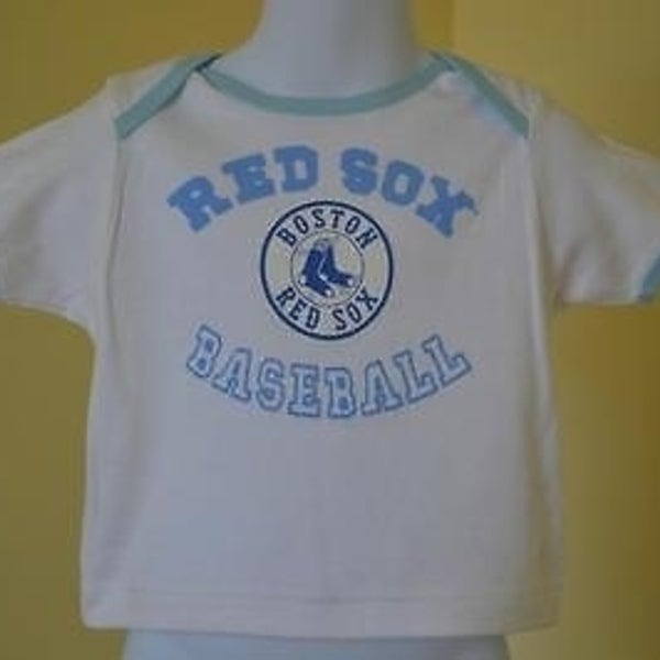 factory price d7ede d2718 Mended- Mlb Boston Red Sox Infants Sz 6/9 Months 6/9M White Shirt 73Eo
