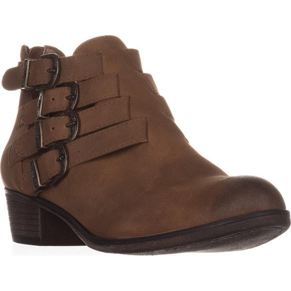 AR35 Darie Strappy Casual Ankle Boots, Tan
