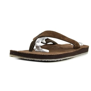 Sanuk Fraid Men  Open Toe Synthetic Brown Flip Flop Sandal