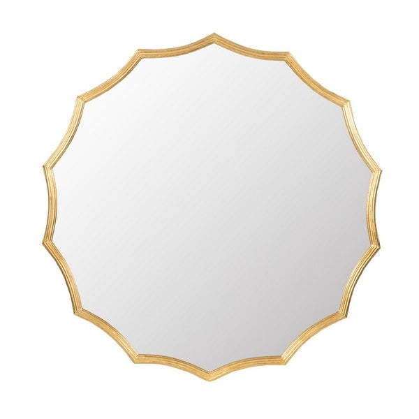 """40"""" Gold Contemporary Style Framed Round Wall Mounted Mirror - N/A"""
