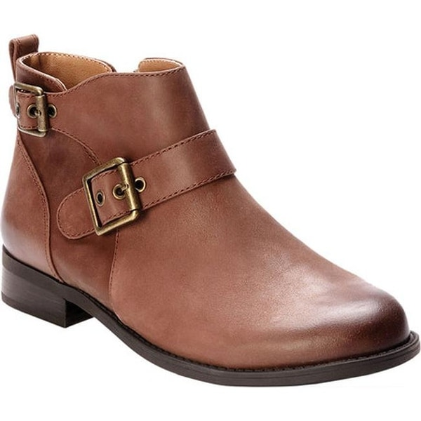 7ec9e042259d3 Shop Vionic Women's Logan Ankle Boot Dark Brown Leather - Ships To ...