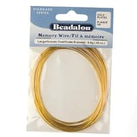 Beadalon Large Oval Bracelet Size Memory Wire Gold Plated Steel 20 Loops .35 Oz