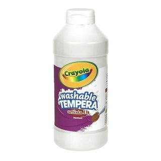 Crayola Artista II Non-Toxic Washable Tempera Paint, 1 pt Squeeze Bottle, White