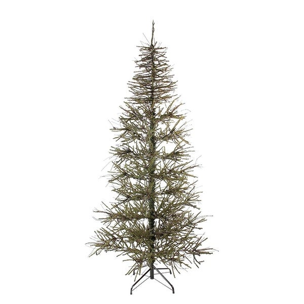 7' Slim Warsaw Twig Artificial Christmas Tree - Unlit - brown