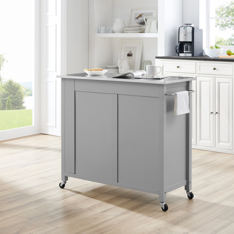Shop Savannah Stainless Steel Top Full Size Kitchen Island Cart