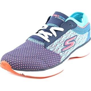 Skechers Go Walk Sport Women Round Toe Canvas Multi Color Walking Shoe