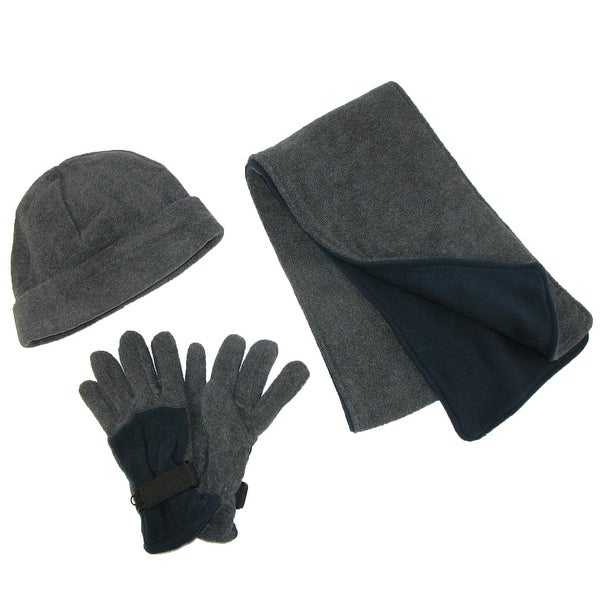 0affa8e5315 Shop CTM® Men s Fleece Hat Gloves and Scarf Winter Set - one size ...