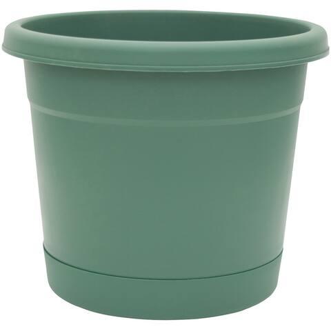 "True Temper RR1212FE Planter & Saucer, Green 12""-1/2 x 11"""