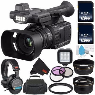 Panasonic AG-AC30 Full HD Camcorder with Touch Panel LCD Viewscreen AG-AC30PJ + Professional 160 LED Video Light Bundle