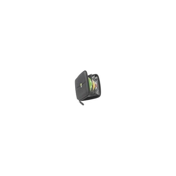 Case Logic CDE-24 Case Logic 24 Capacity Heavy Duty CD Wallet - Book Fold - Fabric - Black - 24 CD/DVD