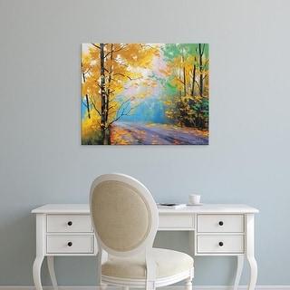 Easy Art Prints Graham Gercken's 'Misty Autumn Day' Premium Canvas Art