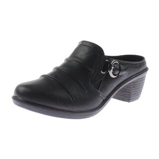 Easy Street Womens Calm Mules Faux Leather Buckle - 8.5 medium (b,m)