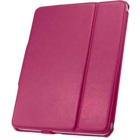 Leather Flip Book Case/Folio Case for Apple iPad (1st Generation) (Pink)