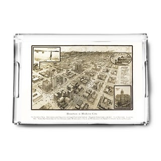 Houston, Texas - (1812) - Panoramic Map (Acrylic Serving Tray)
