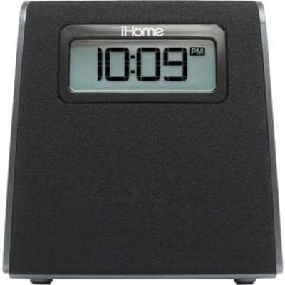 Lightning Clock Radio Black