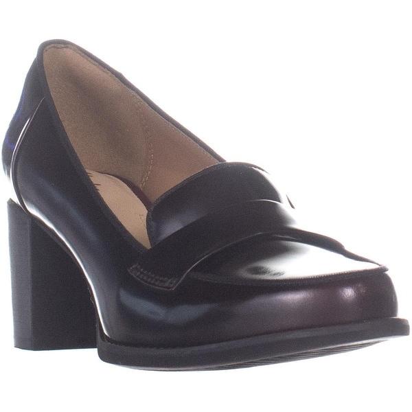 Shop Clarks Tarah Grace Block Heel Penny Loafer Heels