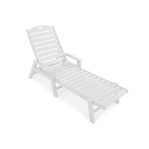 Trex Outdoor Furniture Yacht Club Chaise with Arms - Stackable
