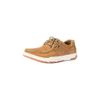 Muk Luks Casual Shoes Mens Ross Lace Up Leather Soft Lining