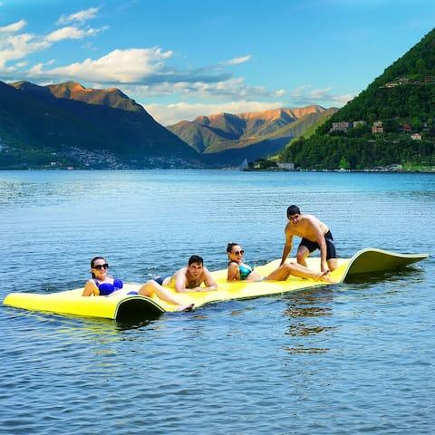 3 Layer Floating Water Pad Foam Mat Water Recreation Relaxing 18' x