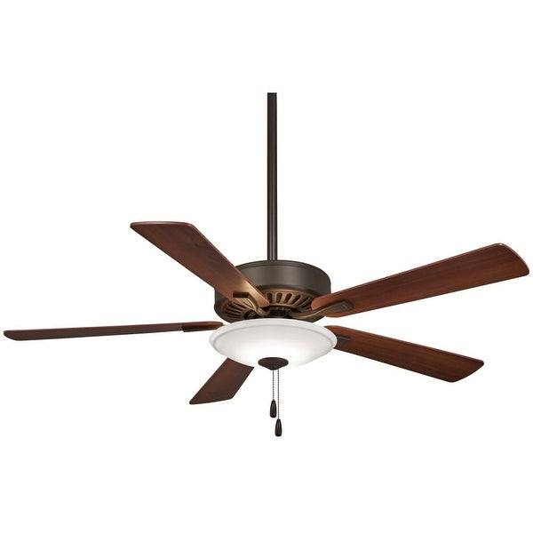 """MinkaAire Contractor Uni-Pack LED Contractor 52"""" 5 Blade LED Indoor Ceiling Fan with Blades and Integrated Light Included"""