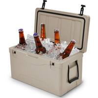 Costway Outdoor Insulated Fishing Hunting Cooler Ice Chest Heavy Duty 64 Quart Grey