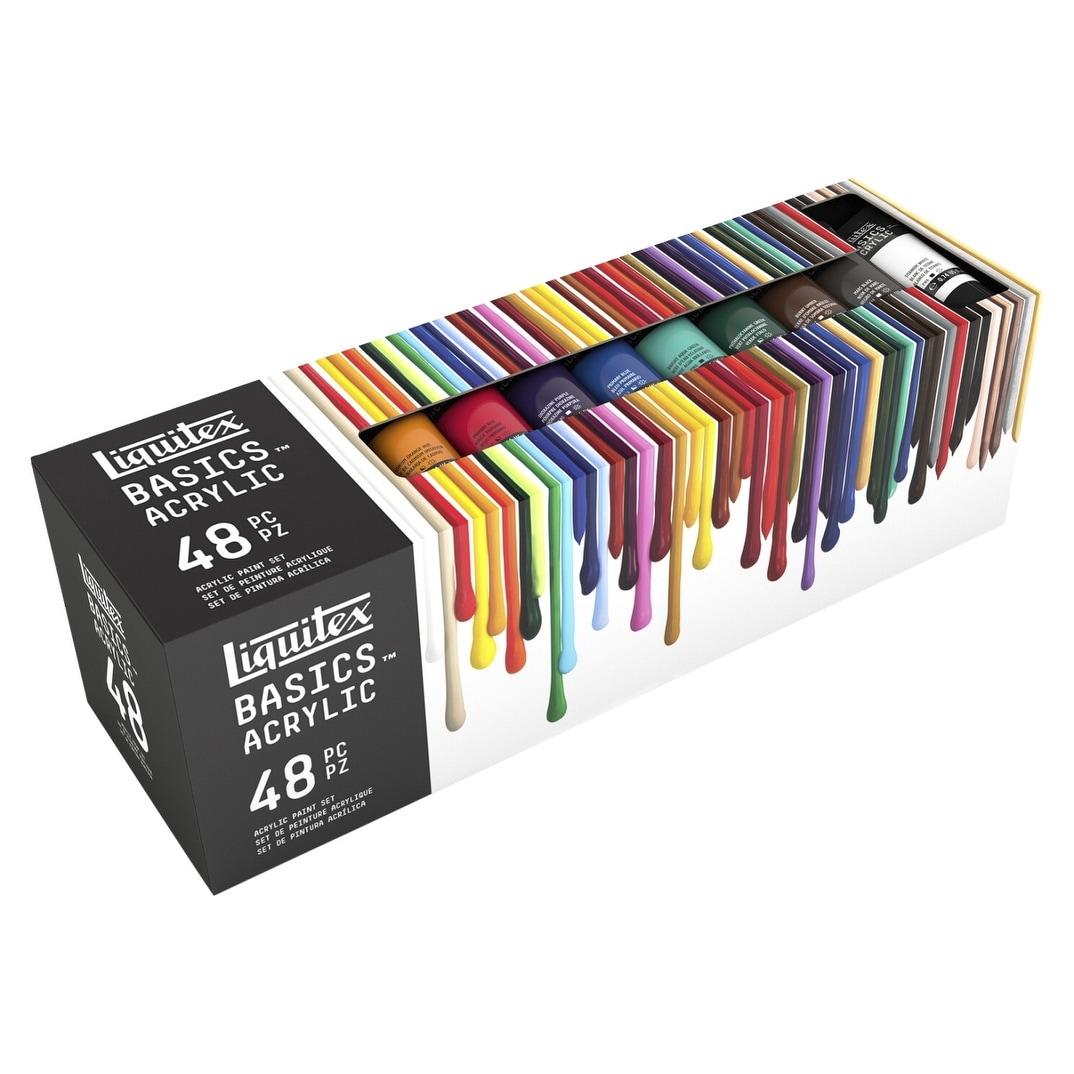 The Little Shop Peinture liquitex basics acrylic paint set, 0.74 ounce tubes, assorted colors, set  of 48