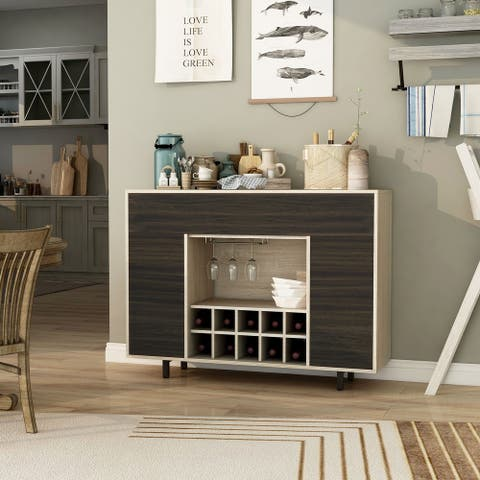 Furniture of America Pike Contemporary Oak 47-inch Multi-storage Buffet