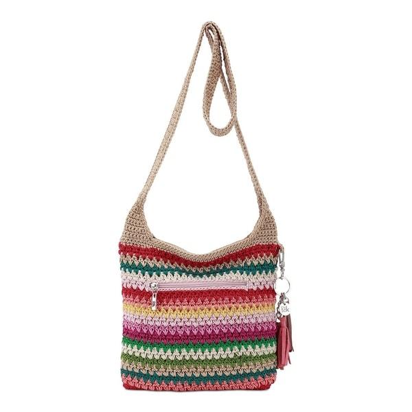 Shop The Sak Womens Crossbody Handbag Crochet Striped Small Free