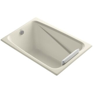 "Kohler K-1490-X Greek Collection 48"" Drop In Soaking Bath Tub - Drain Not Included (Option: Reversible)"
