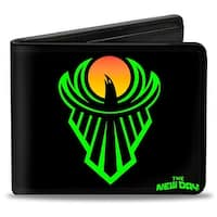 The New Day Icon + Power Of Positivity Black Green Orange Bi Fold Wallet - One Size Fits most