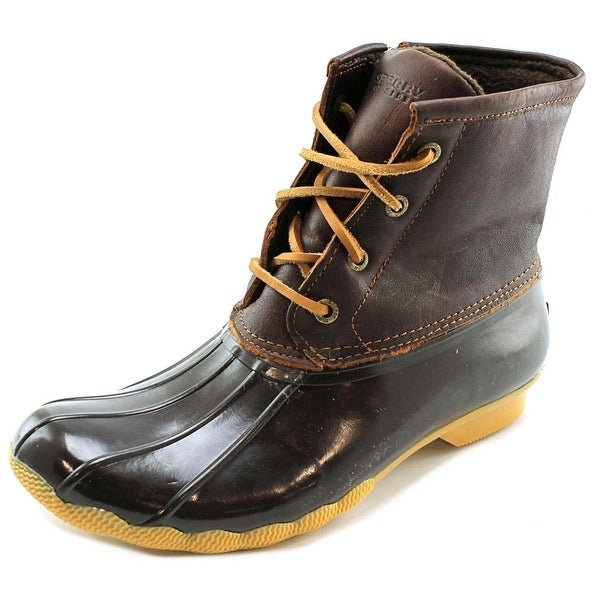 Sperry Top Sider Saltwater Women  Round Toe Synthetic Brown Rain Boot