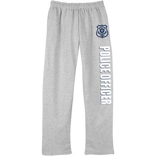 Unisex Adult Professions Sweatpants - Police Officer - Open Bottom Elastic Waist