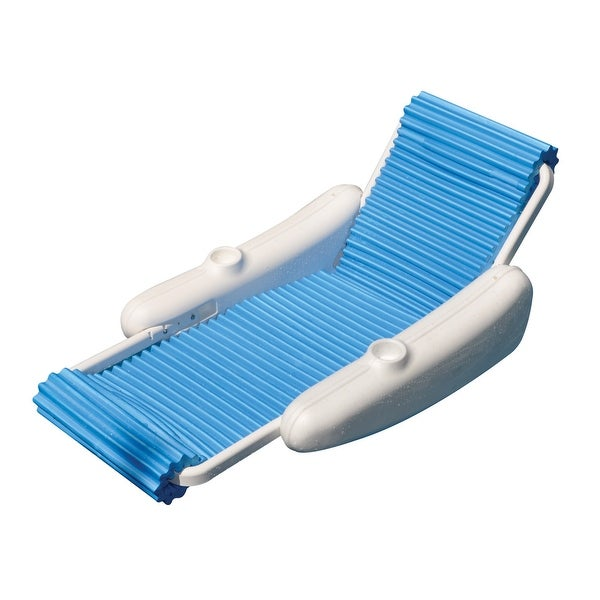 Shop 52 blue and white eva float swimming pool floating - Swimming pool floating lounge chairs ...