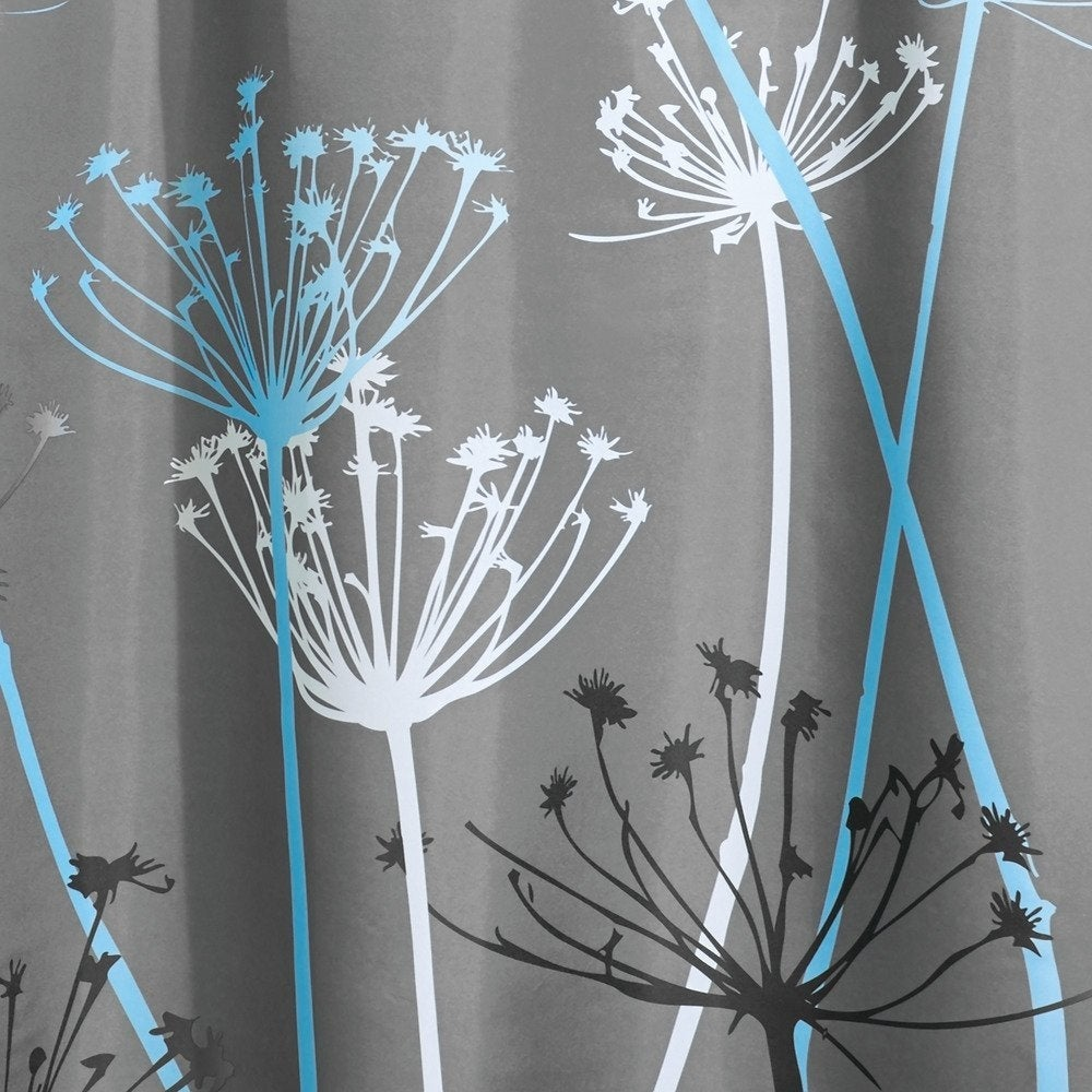 Durable Thistle Fabric Shower Curtain Gray//Blue//White//Black 72 x 72-Inch