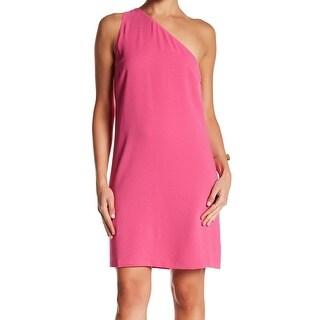 Charles Henry Womens Large One-Shoulder Shift Dress