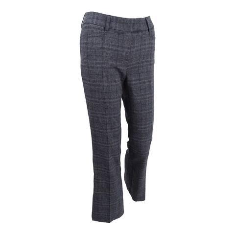 Tahari ASL Women's Plaid Trousers - Grey/Black