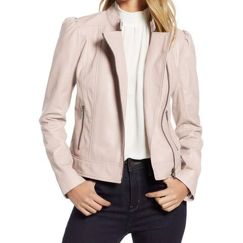 Halogen Womens Jacket Blush Pink Size Medium M Motorcycle Leather