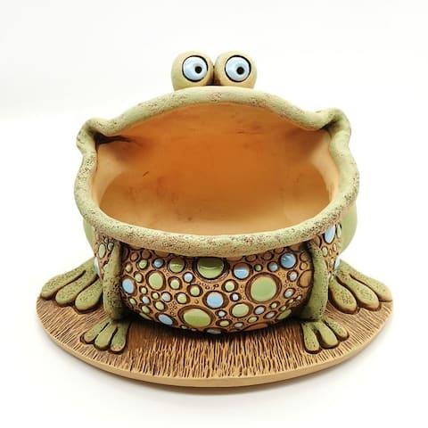 STP-Goods Frog Ceramic Flower Pot Planter
