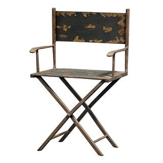 Link to Design Toscano Scaled Metal Director's Chair Sculpture Similar Items in Decorative Accessories