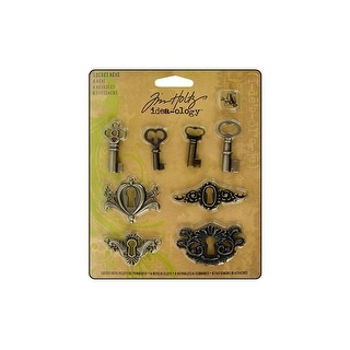 Th92822 Tim Holtz Idea Ology Locket Keys 8pc