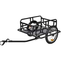 vidaXL Bike Cargo Trailer Black 110 lb