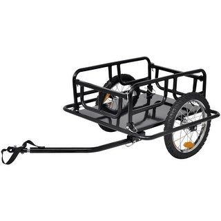 vidaXL Bike Cargo Trailer Black 110 lb
