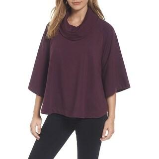 Caslon Purple Womens Size Medium M/Large L Petite Pullover Sweater