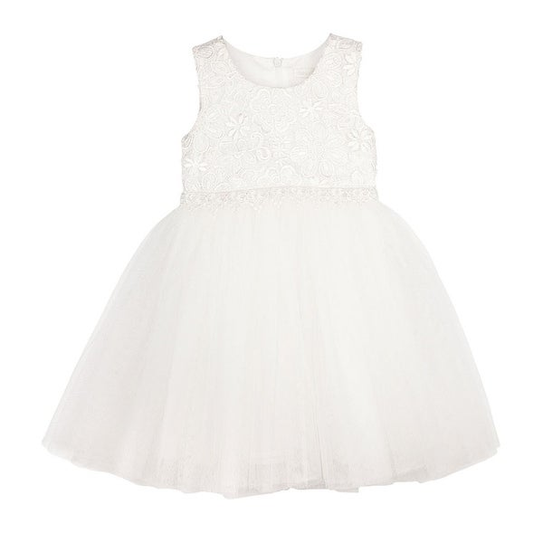Designer Kidz Baby Girls Ivory Lace Scarlet Tutu Flower Girl Dress