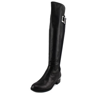 Calvin Klein Cyra Wide Calf Round Toe Synthetic Knee High Boot