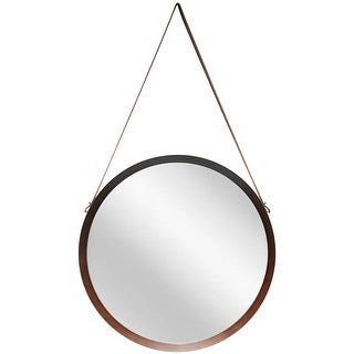 Link to 18 inch Round Decorative Hanging Wall Mirror with Wood Finish Similar Items in Mirrors