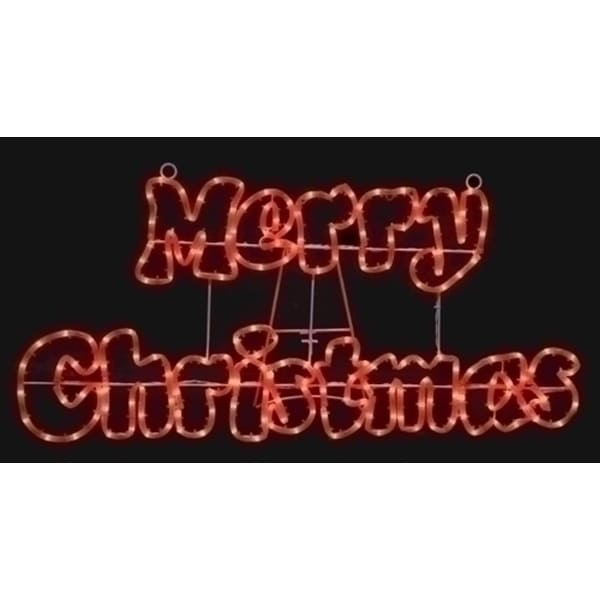 """32"""" Merry Christmas Red Rope Light Outdoor Outdoor Decoration"""