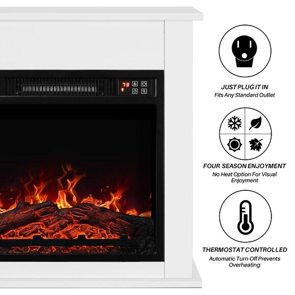 Fireplaces Dark Wood Belleze 1400w 18