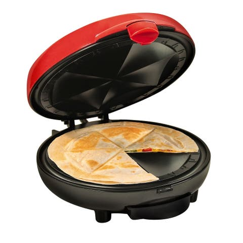 Taco Tuesday Quesadilla Maker Tortilla Warmer 6 Wedge Extra Stuffing L - Red - 14.5 Inch x 5 Inch x 12 Inch