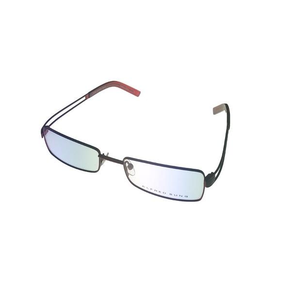 Alfred Sung Mens Opthalmic Eyeglass Rectangle 4622 Bronze Metal - Medium